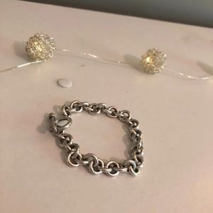 Solid & Pure Sterling Silver Round Link Bracelet